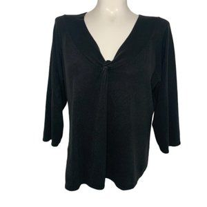 Cato Woman 3/4 Sleeved Black Sweater Size 26/28W